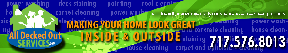 Pressure washing services and exterior cleaning from All Decked Out Services, Inc.